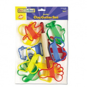Clay Cutter Set, Rolling Pin and 10 Cutters, Sold as 1 Each