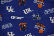 NCAA University of Kentucky Wildcats Team Licenced All Over Cotton Fabric