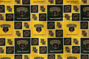 NCAA University of Baylor Bears Team Licenced Block Cotton Fabric