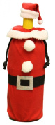 Fabric Santa Suit & Hat Bottle Reusable Christmas Gift Bag