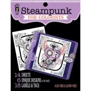 Hot Off The Press Colorist Colouring Book 13cm x 15cm -Steampunk