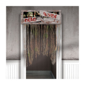 Doomsday Zombies Fabric Doorway Curtains 100cm x 140cm .