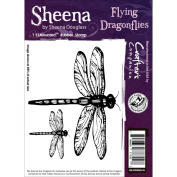 Crafter's Companion Sheena Douglass Cling Stamp-Flying Dragonflies