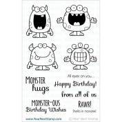 Your Next Stamp Clear Stamps 10cm x 15cm -Silly Monsters