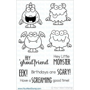 Your Next Stamp Clear Stamps 10cm x 15cm -Silly Monsters Two