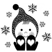 Gourmet Rubber Stamps Cling Stamps 8.3cm x 12cm -Girl With Mittens