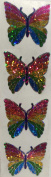 Rainbow Butterfly Glitter Stickers - 2 Sheets