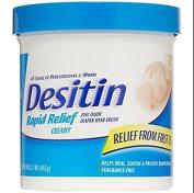 Desitin Nappy Rash Cream Rapid Relief, 470ml Jar New