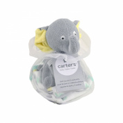 Carter's Elephant Bath Toy and Washcloths