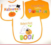 Baby Essentials 3 Halloween Feeder Bibs Grandmas Little Pumpkin