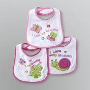 Baby Essentials 3 Bibs I Love My Grandpa ,mommy, Grandma
