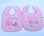 Nursery Rhyme 2 Bibs I Love Mommy/daddy