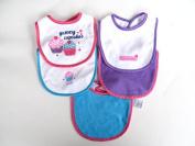 Baby Essentials Five Bibs Yummy Cupcakes