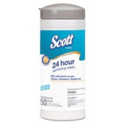 Disinfectant Wipes, White, Unscented, 7.87 x 6.89, 50/Canister, 12/Carton
