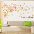 Romantic Flowers Vines Wall Decal Home Sticker Paper Removable Living Dinning Room Bedroom Kitchen Art Picture Murals DIY Stick Girls Boys kids Nursery Baby Playroom Decoration PP-AM021