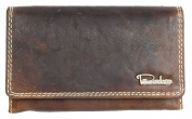 Spacious Brown Strong Leather Wallet Pedro Whole Made of Natural Genuine Leather