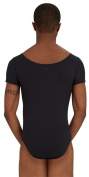 Capezio Men's Short Sleeve Leotard with Round Neck