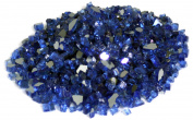 American Fireglass 4.5kg Reflective Fire Glass with Fireplace Glass and Fire Pit Glass, 0.6cm , Cobalt Blue