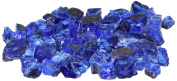 American Fireglass 4.5kg Reflective Fire Glass with Fireplace Glass and Fire Pit Glass, 1.3cm , Cobalt Blue