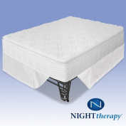 Night Therapy 25cm Pillow Top Pocketed Spring Mattress Complete Set - Full