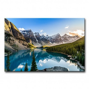 Modern Canvas Painting Wall Art The Picture For Home Decoration Moraine Lake And Mountain Range At Sunset In Canadian Rocky Mountains Landscape Mountain & Lake Print On Canvas Giclee Artwork For Wall Decor