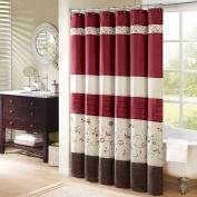 Madison Park Serene Shower Curtain - Red - 180cm x 180cm