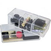 Paylak CNT380-1 Stackable Acrylic Makeup Cotton Balls Storage Bathroom Vanity