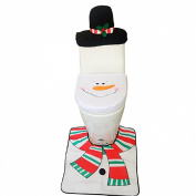 Susenstone® 3PCS Toilet Seat Cover and Christmas Decoration