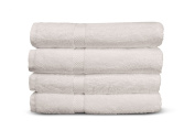 Cheer Collection 4 Piece Luxurious Hand Towel Set - Solid White