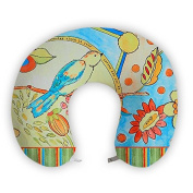 EnjoyIt Bird Love-Left U-Shape Neck Pillow with Perfect Design Cloth with Soft Nap Surface and High Quality Memory Foam Insert