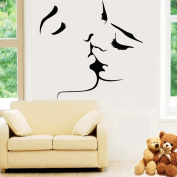 Amaonm® New Desgin Couples Kiss Wall Decals Removable Vinyl Home Decoration Art Decor Wall Stickers & Murals Decorative Painting Supplies & Wall Treatments Sticker for Living Room Bedroom