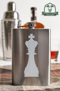 King Chess Piece 240ml Stainless Steel Flask