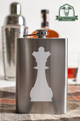 Queen Chess Piece 240ml Stainless Steel Flask