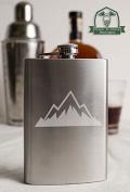Jagged Mountain Range 240ml Stainless Steel Flask