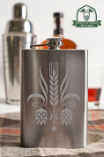 Beer Ingredient Crest 240ml Stainless Steel Flask