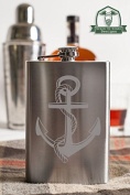 Anchor with Rope 240ml Stainless Steel Flask
