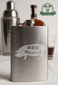 BBQ Master Pig 240ml Stainless Steel Flask