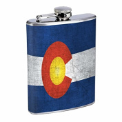 Perfection In Style Stainless Steel Flask Colorado Flag Design 001 240ml