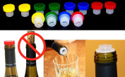 12pc Colourful Slow Wine Pourer Stopper Aerator Saver Slo Vino