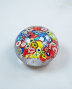 Murano Design Colourful Assorted Murrine M Millefiori Paperweight PW-611