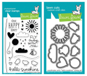 "Lawn Fawn ""Hello Sunshine"" Clear Stamp and Die Set"