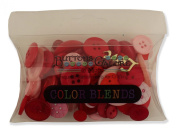 BUTTONS GALORE 90ml colourful BUTTONS IN CLEAR PILLOW BOX - VALENITINE