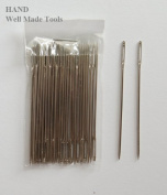 """No.T57 A Pack of Appx 30 Pcs Easy to Thread Extra Large Opening Hand Sewing Needles- 6cm/2.7"""", Get the Deal!"""