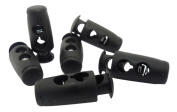 Mini Barrel Double Holes Black Cord Lock Cylinder Stopper Toggles Spring End DIY Findings Fastener Supplies Slider