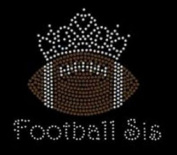 Football Sis Rhinestone Iron on Transfer