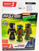Nickelodeon Teenage Mutant Ninja Turtles 3D It Character Creator Basic Refill Pack Shredder Leonardo & Donatello