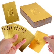 Luxury 24K Gold Foil Poker Playing Cards Deck Carta de Baralho with Box Good Gift Idea