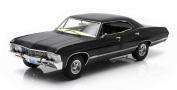 "1967 Chevrolet Impala Sport Sedan Black 4 Doors ""Supernatural"" (TV Series 2005) With Ohio Licence Plate 1/18 by Greenlight 19014"