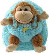 Blue Monkey Removable Plush Animal Backpack