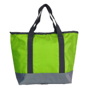 ZXKE Cooler Bag Zipper Insulated Picnic Lunch Bag Tote